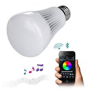 Lighteu, Ampoule LED Bluetooth sans fil 8W E27, Couleur RGB avec Blanc Chaud et Blanc Froid, Changement de Couleur LED - Intensité Variable 16000000 Couleur Disponible - Contrôle sans fil - APP gratuit - Assistance iPhone Smartphones / iPad / iOS / Samsun image 0 produit