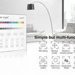 LIGHTEU, Contrôleur Smart Panel B3, Milight Original®, 2.4G RF, 4 Zones, Contrôleur de l'écran tactile, LED RGB RGBW, fonctionnent uniquement avec Mi.Light RGB / RGBW Série Les plus récents LED version lumières, contrôleur de bande de la marque LIGHTEU image 1 produit
