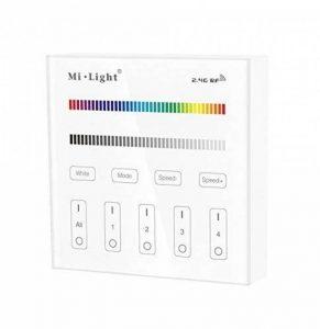 LIGHTEU, Contrôleur Smart Panel B3, Milight Original®, 2.4G RF, 4 Zones, Contrôleur de l'écran tactile, LED RGB RGBW, fonctionnent uniquement avec Mi.Light RGB / RGBW Série Les plus récents LED version lumières, contrôleur de bande de la marque LIGHTEU image 0 produit