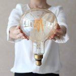 LightingDesigner Edison a mené l'ampoule grande taille 6W Dimmable 220 / 240V E27 verre ambre (R160) de la marque LightingDesigner image 2 produit