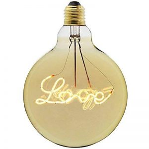 Lightingdesigner Edison Ampoule LED Big Globe G125 personnage LED Filament 4 W 220/240 V E27, love, E27 4.00W 240.00V de la marque LightingDesigner image 0 produit