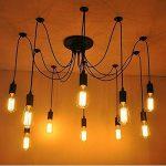 Lightsjoy Suspension Vintage Industriel Lustre Retro Métallique Eclairage de Plafond Luminaire Spider Pendentif Lampe avec 10 Bras Pour Chambre Restaurant Bar(Pas d'ampoule) de la marque Lightsjoy image 1 produit