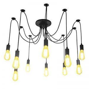 Lightsjoy Suspension Vintage Industriel Lustre Retro Métallique Eclairage de Plafond Luminaire Spider Pendentif Lampe avec 10 Bras Pour Chambre Restaurant Bar(Pas d'ampoule) de la marque Lightsjoy image 0 produit