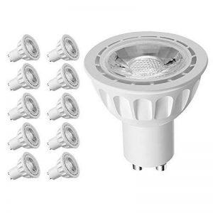 Lintelek Ampoules LED Spot GU10 5W, (=50W Ampoules Halogènes), 500lm, 4000K Blanc Neutre, 40 °Angle d'éclairage, GU10 Ampoules LED MR16, Homologué UL, Non-Dimmable, Lot de 10 de la marque Lintelek image 0 produit