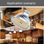 Liqoo® 6 x 5W MR16 Ampoule LED Lampe Bulb Blanc Chaud AC / DC 12V 400 Lumen 2800K Equivalente à une Ampoule Incandescente de 35W 60 x 2835 SMDs de la marque Liqoo image 1 produit