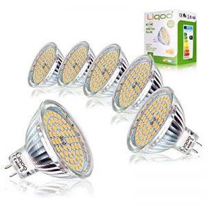 Liqoo® 6 x 5W MR16 Ampoule LED Lampe Bulb Blanc Chaud AC / DC 12V 400 Lumen 2800K Equivalente à une Ampoule Incandescente de 35W 60 x 2835 SMDs de la marque Liqoo image 0 produit