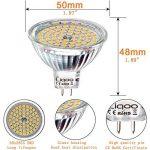 Liqoo® 6 x 5W MR16 Ampoule LED Lampe Bulb Blanc Chaud AC / DC 12V 400 Lumen 2800K Equivalente à une Ampoule Incandescente de 35W 60 x 2835 SMDs de la marque Liqoo image 4 produit