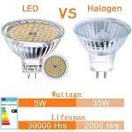 Liqoo® 6 x 5W MR16 Ampoule LED Lampe Bulb Blanc Chaud AC / DC 12V 400 Lumen 2800K Equivalente à une Ampoule Incandescente de 35W 60 x 2835 SMDs de la marque Liqoo image 3 produit
