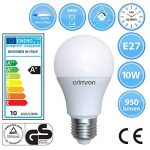 LM® E27 vis Edison - 10 W A60 GLS ampoule LED lumière couleur du jour 950 lm 6400K - 60-80 W remplacement ampoule incandescente - 10 paquet de de la marque CRIMSON image 2 produit