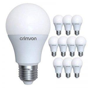LM® E27 vis Edison - 10 W A60 GLS ampoule LED lumière couleur du jour 950 lm 6400K - 60-80 W remplacement ampoule incandescente - 10 paquet de de la marque CRIMSON image 0 produit