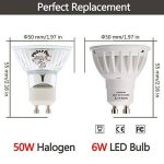 LOHAS 10X 6W GU10 Ampoule LED, 4000K, Blanc Naturel, 50W Ampoule Halogène Équivalent, 500lm, 120°Larges Faisceaux, Ampoule LED GU10, Culot GU10 de la marque Lohas-Led image 1 produit