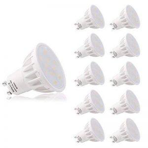 LOHAS 10X 6W GU10 Ampoule LED, 4000K, Blanc Naturel, 50W Ampoule Halogène Équivalent, 500lm, 120°Larges Faisceaux, Ampoule LED GU10, Culot GU10 de la marque Lohas-Led image 0 produit