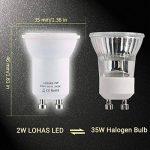 LOHAS 2 Watt Mini GU10 SMD LED, Blanc Chuad 3000K,35Watt Ampoule Halogène Équivalent,GU10 35MM Avec la Nouvelle Technologie de Puce Avec Garantie de 1 an,Non Dimmable,6 Unités de la marque Lohas-Led image 1 produit