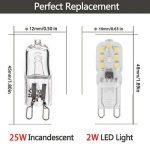 LOHAS 2W G9 Blanc Froid 6000K, Ampoule LED, 25W Ampoule Halogène Équivalent, 230V AC 200lm, 360° Larges Faisceaux, Culot G9 Lot de 10 de la marque LOHAS LED image 1 produit