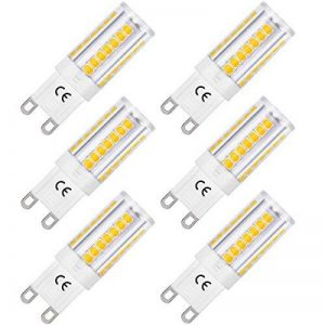 LOHAS 5W Equivalent à Ampoule Halogène 40W, G9 LED Ampoule Blanc Chaud 3000K, 400LM, 360° Large Faisceau, Non-dimmable, Culot G9, Lot de 6 de la marque Lohas-Led image 0 produit