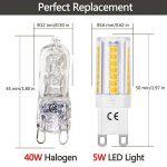 LOHAS 5W Equivalent à Ampoule Halogène 40W, G9 LED Ampoule Blanc Chaud 3000K, 400LM, 360° Large Faisceau, Non-dimmable, Culot G9, Lot de 6 de la marque Lohas-Led image 1 produit