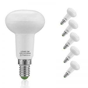 LOHAS 5Watt R50 Lot de 5 Réflecteur Ampoules LED, 40Watt Ampoule Halogène Équivalent, 400lm, Blanc Froid, 6000K, 120° Larges Faisceaux,R50 Ampoule LED, Culot E14 de la marque Lohas-Led image 0 produit