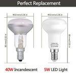 LOHAS 5Watt R50 Lot de 5 Réflecteur Ampoules LED, 40Watt Ampoule Halogène Équivalent, 400lm, Blanc Froid, 6000K, 120° Larges Faisceaux,R50 Ampoule LED, Culot E14 de la marque Lohas-Led image 1 produit