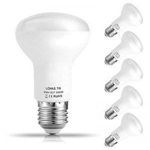 LOHAS 5X E27 R63 Ampoule LED, Blanc Chaud 3000K, 7W Consommés Équivalent 60W, 560LM, 220-240V AC, 120°Larges Faisceaux, Ampoule E27 de la marque Lohas-Led image 0 produit