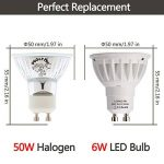 LOHAS 6W GU10 Lot de 10 LED Blanc Chaud, 3000K, 500lm, Equivalente à Incandescence 50W, 120° Larges Faisceaux,Ampoule LED GU10,Spot Light Lampe de la marque Lohas-Led image 3 produit
