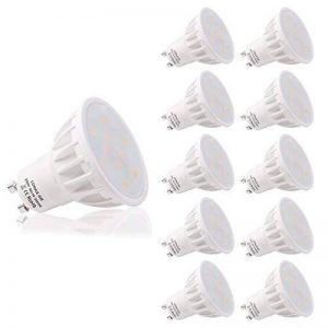 LOHAS 6W GU10 Lot de 10 LED Blanc Chaud, 3000K, 500lm, Equivalente à Incandescence 50W, 120° Larges Faisceaux,Ampoule LED GU10,Spot Light Lampe de la marque Lohas-Led image 0 produit