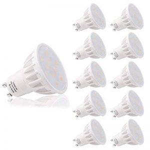 LOHAS 6W GU10 Lot de 10 LED Blanc Froid, 6000K, 500lm, Équivalente à Incandescence 50W, 120° Larges Faisceaux,Ampoule LED GU10,Spot Light Lampe de la marque Lohas-Led image 0 produit