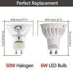 LOHAS 6W GU10 Lot de 5 Ampoule LED, 50W Ampoule Halogène équivalent, 500lm, Blanc Froid, 6000K, 120 à Larges Faisceaux, Ampoule LED GU10, Culot GU10 de la marque Lohas-Led image 3 produit