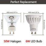 LOHAS 6W GU10 Lot de 5 Ampoule LED, Blanc Chaud, 3000K, 50W Ampoule Halogène Équivalent, 500lm, 120° Larges Faisceaux, Ampoule LED GU10, Culot GU10 de la marque Lohas-Led image 3 produit