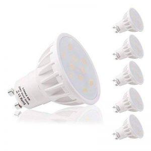 LOHAS 6W GU10 Lot de 5 Ampoule LED, Blanc Chaud, 3000K, 50W Ampoule Halogène Équivalent, 500lm, 120° Larges Faisceaux, Ampoule LED GU10, Culot GU10 de la marque Lohas-Led image 0 produit