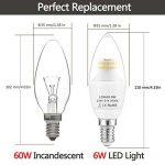 LOHAS 6Watt C37 E14 Lot de 3 Ampoule LED, 60Watt Ampoule à Incandescence Équivalent, 550lm, Blanc Chaud, 3000K, Eclairage 360°, Ampoule Bougie LED,Flamme Lampe Bougie Spot Light Bulb, Culot E14 de la marque Lohas-Led image 1 produit