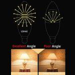 LOHAS 6Watt C37 E14 Lot de 3 Ampoule LED, 60Watt Ampoule à Incandescence Équivalent, 550lm, Blanc Chaud, 3000K, Eclairage 360°, Ampoule Bougie LED,Flamme Lampe Bougie Spot Light Bulb, Culot E14 de la marque Lohas-Led image 2 produit
