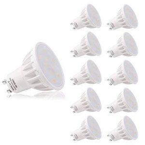 LOHAS 6Watt GU10 Lot de 10 LED Blanc Froid, 5000K, 500lm, Equivalente à Incandescence 50Watt, 120° Larges Faisceaux,Ampoule LED GU10,Spot Light Lampe, Non Dimmable de la marque Lohas-Led image 0 produit