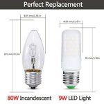 LOHAS 9W, 80W Ampoule Halogène Équivalent, E27 Blanc Chaud 2700K, Ampoule LED, 220-240V AC, 1000lm, 360°Larges Faisceaux, Ampoule Flamme. Lot de 3 de la marque Lohas-Led image 1 produit