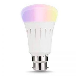 LOHAS Alexa Smart LED Ampoule WiFi, A60 B22 Couleur changeant l'ampoule, Fonctionne avec Amazon Alexa, Google Home & IFTTT, Équivalent 60W, Émettre n'importe quelle teinte dans l'arc-en-ciel et les lumières blanches accordables, Télécommandé par un Smartp image 0 produit