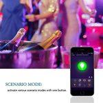 LOHAS Alexa Smart LED Ampoules WiFi, A60 B22 Couleur changeant l'ampoule, Fonctionne avec Amazon Alexa, Google Home & IFTTT, Équivalent 60W, Émettre n'importe quelle teinte dans l'arc-en-ciel et les lumières blanches accordables, Télécommandé par un Smart image 4 produit