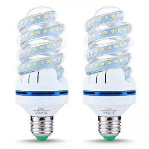 LOHAS Ampoule FluoCompacte Spirale Culot E27 Blanc Chaud 3000K, 16W, Équivalence Incandescence 150W, 1520LM, Lot de 2 de la marque Lohas-Led image 0 produit