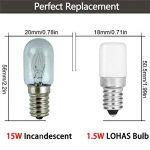 LOHAS® Lot de 2 Lampe E14 LED Ampoule pour Réfrigérateur / 1.5 W - Puissance équivalente à une Lampe de 15 Watt,Blanc Chaud- 2700K de la marque Lohas-Led image 1 produit