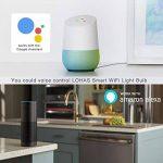Lohas Wifi A65E27Smart ampoules, fonctionne avec Alexa et Google Home, 14W égale à 100W Ampoule à réflecteur, RGB + Blanc froid lumière d'ambiance à changement de couleur, contrôlé par les appareils intelligents, sans hub, Lot de 1 de la marque Lohas- image 1 produit