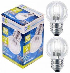 Long Life Lamp Company Mini Balle de golf ampoules halogènes à économie d'énergie–Lot de 10, Verre, blanc chaud, 40 W, E27 (Edison Screw) 28 watts de la marque Long Life Lamp Company image 0 produit