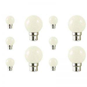 Lot de 10 ampoules led B22 pour guirlande lumineuse (7 couleurs d'éclairage) - Couleur - Blanc froid 6000°K de la marque Vision-EL image 0 produit