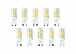 Lot de 10ampoules lED culot g9–4W 340Lumens–220/240V–Mesures Ø 16x 50mm–Lumière naturelle 4000K ° Rayon d'éclairage 360°–Non dimmable de la marque DYA image 0 produit