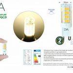Lot de 10ampoules lED culot g9–4W 340Lumens–220/240V–Mesures Ø 16x 50mm–Lumière naturelle 4000K ° Rayon d'éclairage 360°–Non dimmable de la marque DYA image 3 produit