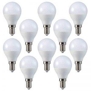Lot de 10 ampoules LED V-TAC - 3W - P45 - En forme de balles de golf - E14 - SES - Petits culots à vis Edison - Blanc chaud 2 700K - 250 lumens - Finition en plastique - Incandescence équivalente à 25W - Durée de vie moyenne de 20 000 heures - Non grad image 0 produit