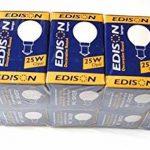 Lot de 10 ampoules rondes Edison décoratives SBC/B1525W, culot B15 de la marque Edison image 3 produit
