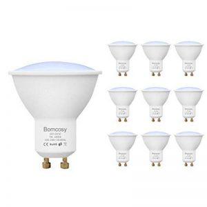 Lot de 10 Bomcosy Ampoules LED 7W GU10, équivalent 60W Halogènes, Blanc Chaud 3000K, Bright 600 Lumens, 120° Larges Faisceaux, 120-240V, Non Dimmable, éclairage pour la Maison, Encastrable, Paysage, Track, Galeries d'art, Bureau de la marque Bomcosy image 0 produit