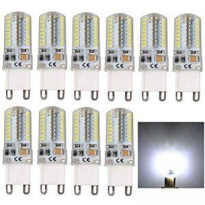 Lot de 10, G9 5W Ampoule LED Capsule, AC 220V, 40W halogène équivalent Blanc froid 6000K 400 Lumen lustres Lampes halogènes de remplacement 360 ° Angle de faisceau de la marque SZFC image 0 produit