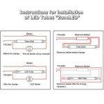 Lot de 10 ZoneLED SET - 120cm Tube LED - T8 G13-18W (remplace le tube à gaz 36W) -Lumière du jour 4500K -1600 lm - Angle de faisceau de 160° de la marque Zone LED image 3 produit