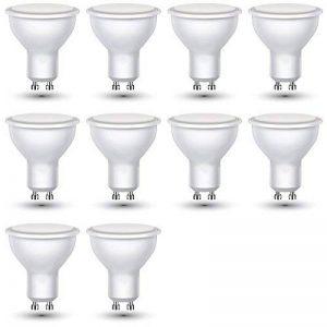 Lot de 10 - ZoneLED SET - Ampoule LED GU10 - ø50x57 - 3W avec une luminosité de 25W - Blanc chaud 3000K - 210 lm - 110° Angle de faisceau de la marque V-TAC image 0 produit