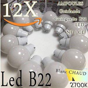 Lot de 12 ampoules Led B22 1W Guirlande Blanc chaud 3000k incassables (équivalence 15W) de la marque Revenergie image 0 produit