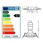 LOT DE 15 SPOT ENCASTRABLE ORIENTABLE LED CARRE ALU BROSSE GU10 230V eq. 50W BLANC CHAUD de la marque Lampesecoenergie image 4 produit